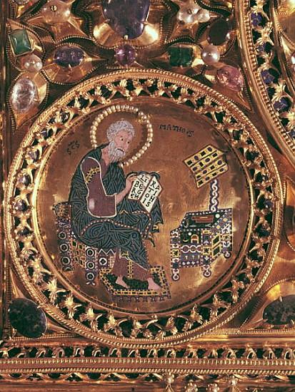 The pala d 39 39 oro detail of st matthew byzantine as for Pala de oro