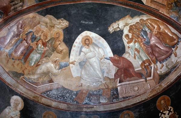 Anastasis in the Parecclesian apse vault