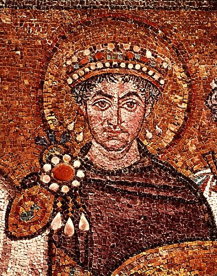Emperor Justinian I (483-565) c.547 AD - Byzantine School ... Byzantine Empire Justinian