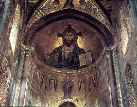 View of the apse depicting the Christ Pantocrator and the Virgin at Prayer Surrounded by Archangels