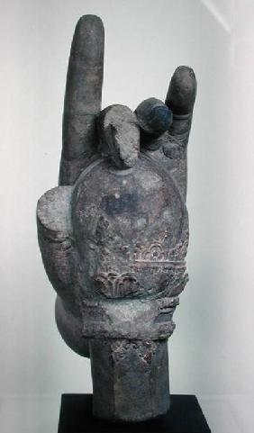 Hand from a colossal statue of Shiva, from Koh Ker, Kompong Thom Province