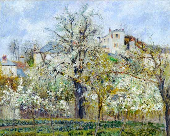 The Vegetable Garden with Trees in Bloss - Camille ...
