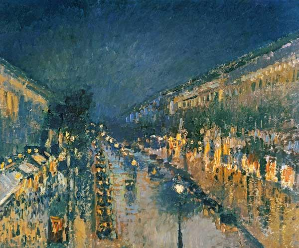 Boulevard Montmartre, at night Ohne Jahr