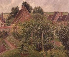 Landscape with Cottage Roofs