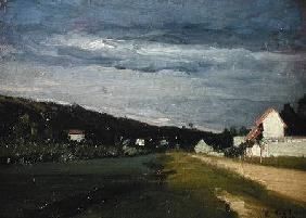 Landscape with Stormy Sky