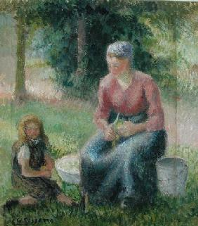 Peasant Woman and her Little Girl