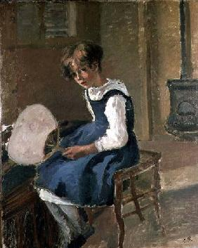Portrait of Jeanne Holding a Fan