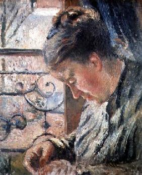Portrait of Madame Pissarro Sewing