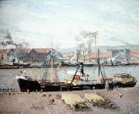 Rouen Port, Unloading Wood