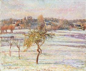 White Frost at Eragny, 1895 (oil on canvas)