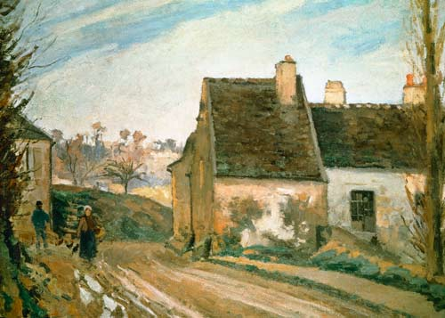 The tumbledown cottage near osny camille pissarro as art for Camille pissarro oeuvre