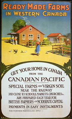 Poster Advertising Ready Made Farms In Canadian School