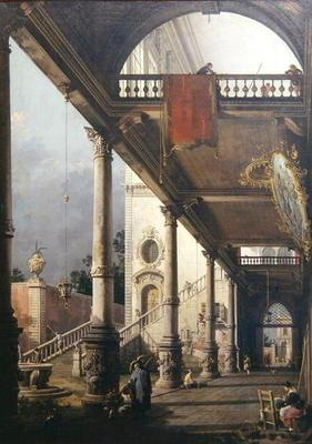 Capriccio of a Colonnade, 1765 (oil on canvas)