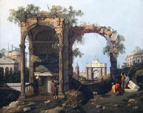 Capriccio with Ruins and Classical Buildings, c.1760 (oil on canvas)