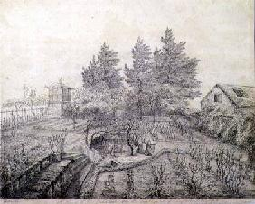 A View of Napoleon I's Gardens on the East Side of Longwood House