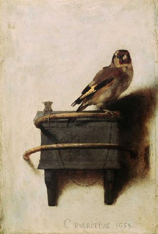 C.Fabritius, The goldfish / 1654