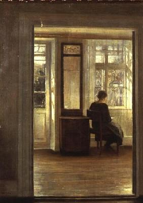 A Lady in an Interior