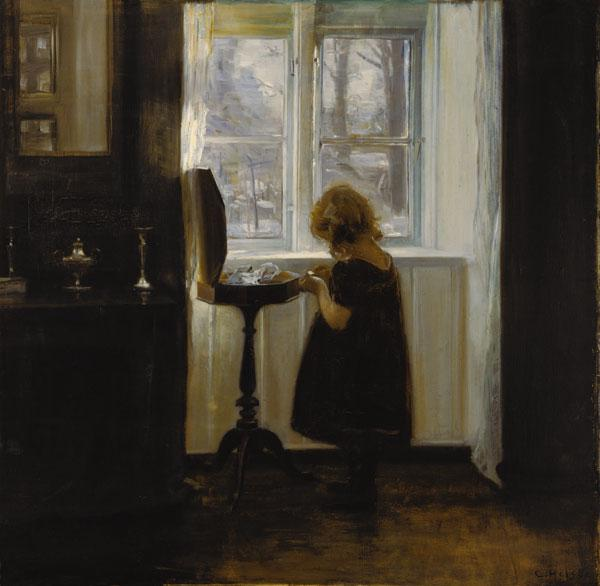 Little girl at the Nähtischchen