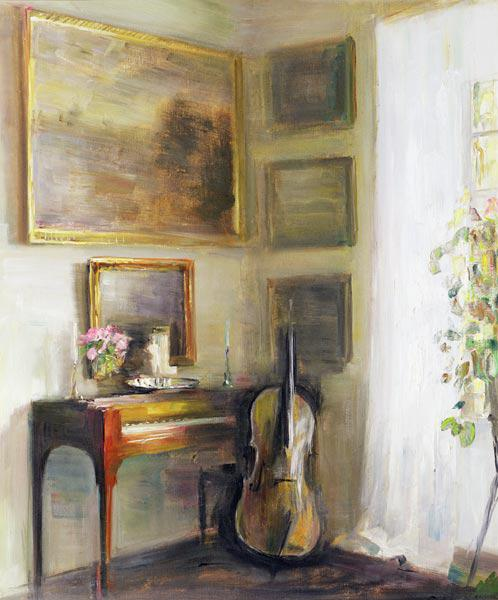 Interior with Cello and Spinet