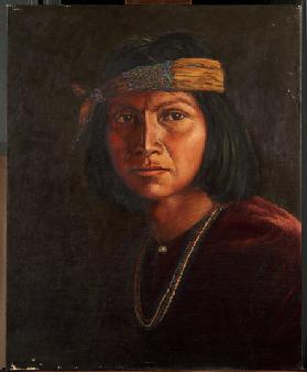 Cha-ah-din-ie Navaho (oil on canvas mounted on panel)