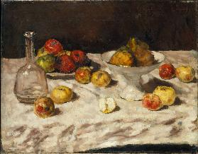 Still Life with Apples, Pears and a Carafe