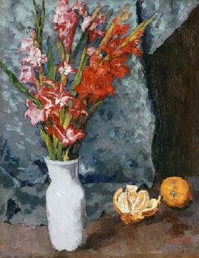 Gladioli and oranges