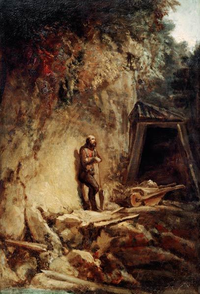 C.Spitzweg / The Miner / Paint./ 1849/54