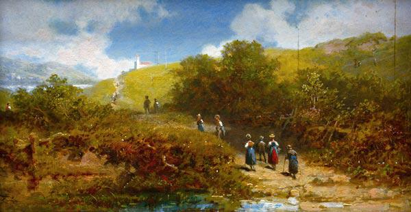Spitzweg / Country Church-Goers / c.1865