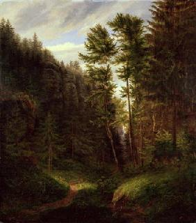 Clearing in the Uttenwald Region, 1820 (oil on canvas)