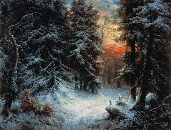 Snow Scene in the Black Forest, 19th century