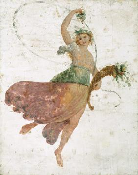 Young Dancer with a Cornucopia and a Bunch of Grapes