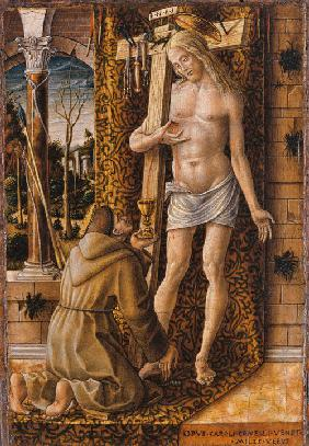 Saint Francis Catches the Blood of Christ from the Wounds