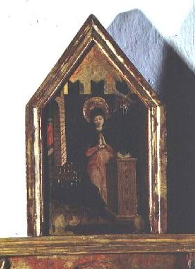 The Annunciation, detail of the San Silvestro polyptych