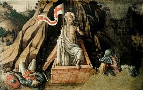 The Resurrection, right hand predella panel from the San Silvestro polyptych