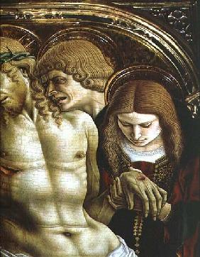 Lamentation of the Dead Christ, detail from the Sant'Emidio polyptych
