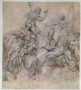 Sketch of a Fresco for the Santa Maria del Popolo Church in Rome