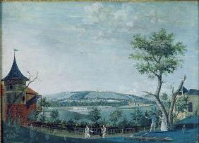 The Hermitage and the Old Castle in the Park at Le Raincy, 1754-93 (gouache on paper)