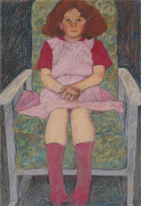 Girl in a Rocking Chair (pastel)