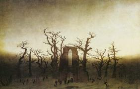 Abbey in the Oak Woods (before restoration) 1809-1810