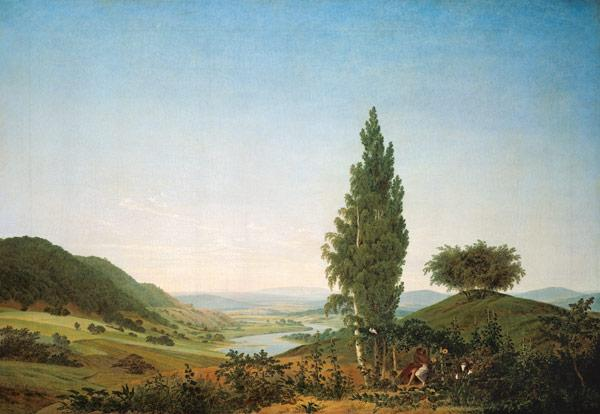 The Summer (Landscape with Lovers)