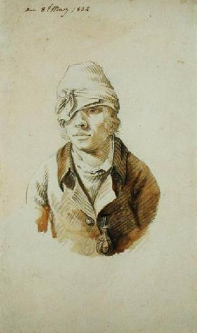 Self Portrait with Cap and Eye Patch, 8th May 1802 (pencil, brush and w/c on