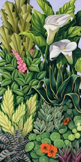 Foliage I, 2003 (oil on canvas)