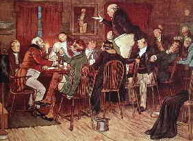 The Eloquent Mr Pickwick'', illustration from ''Pickwick Papers'' Charles Dickens (1812-70)