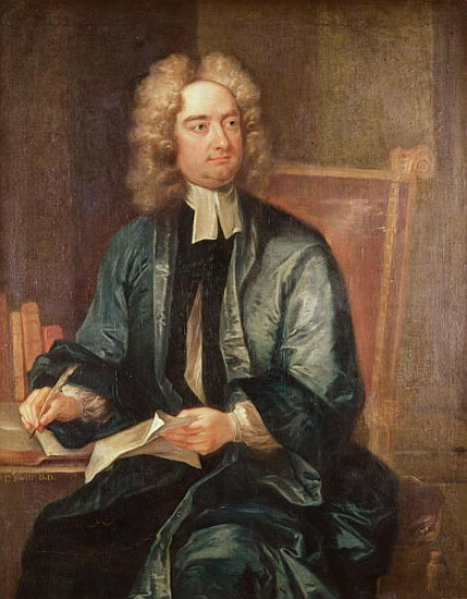 Portrait Of Jonathan Swift 1667 1745 C Charles Jervas As Art Print Or Hand Painted Oil