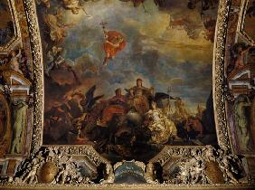 The Prosperous Neighbouring Powers of France, Ceiling Painting from the Galerie des Glaces