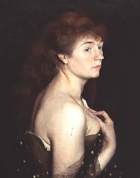 Portrait of a Young Red Haired Woman