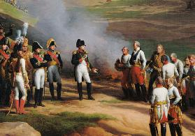 Detail from The Surrender of Ulm, 20th October, 1805 - Napoleon and the Austrian generals