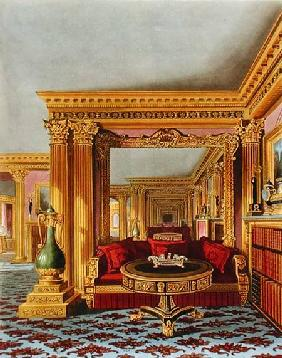The Alcove in the Golden Drawing Room, Carlton House, from 'The History of the Royal Residences', en