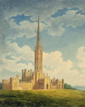 North-west view of Fonthill Abbey