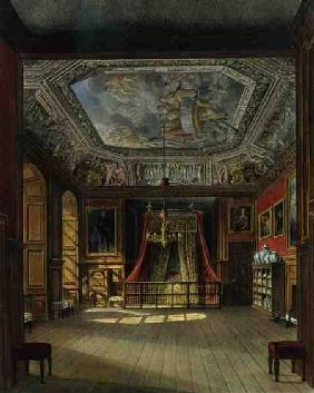 Queen Anne's Bed, Windsor Castle, from 'Royal Residences', engraved by Thomas Sutherland (b.1785), p